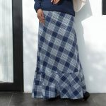 Check Cotton Pannel Skirt