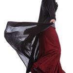 Flamenco City Skirt Maroon