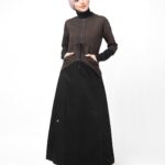 Dark Olive & Black Jilbab